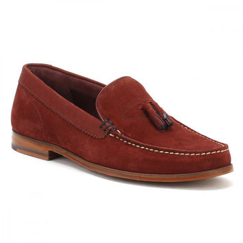 Ted Baker Mens Dark Red Nubuck/Suede Dougge Shoes