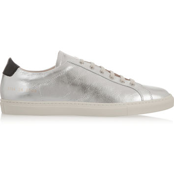 Common Projects - Achilles Retro metallic leather sneakers