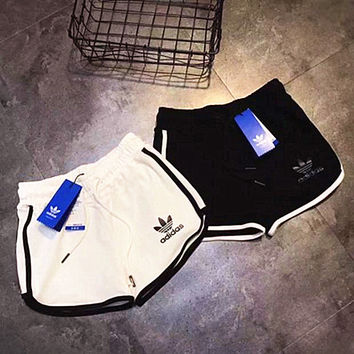 ADIDAS Fashion Print logo side stripe shorrt