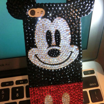 Mickey mouse iphone6 Trends gift finds red handmade white opal Minnie mouse Disney phone case for iphone5 5s bling  swarovski elements bling