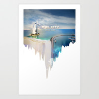Owl City - Ocean Eyes Art Print by Mongo Designs