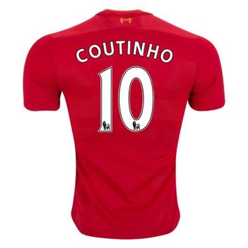 Liverpool Coutinho Home Soccer Jersey 2016/17