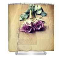 Two violet roses Shower Curtain for Sale by Ivy Ho