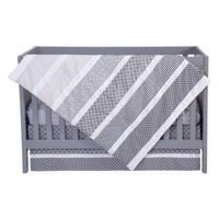 Ombre Gray 3 Piece Crib Bedding Set