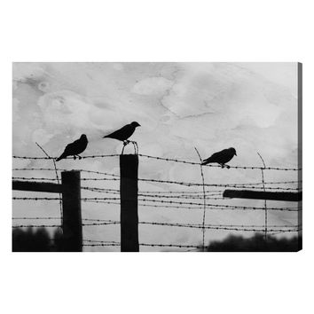 Birds on a Wire (Canvas)
