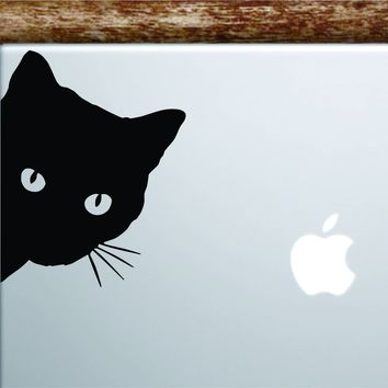 Cat Face Laptop Decal Sticker Vinyl Art Quote Macbook Apple Decor Car Window Truck Girls Animal Kitten