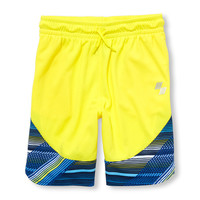 Boys PLACE Sport Printed Hem Mesh Shorts | The Children's Place