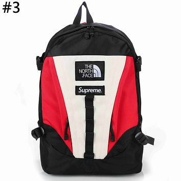 The North Face x Supreme co-branded tide brand color matching men's outdoor sports backpack #3