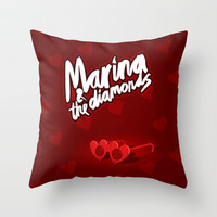 Heart Glasses - Marina and the Diamonds Throw Pillow by Nicholas Musi | Society6