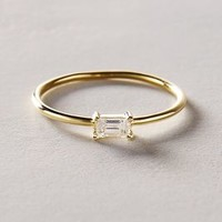Baguette Diamond Ring in 14k Yellow Gold