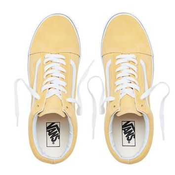Vans Classic Trending Women Men Personality Canvas Old Skool Flats Sneakers Sport Shoes Yellow I
