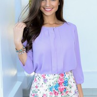 EVERLY:On The Move Blouse-Lilac