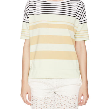 See by Chloe Women's Striped Cotton Drawstring Sweater -