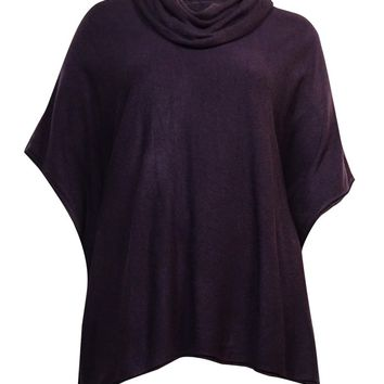 Karen Scott Women's Detachable Cowl Neck Poncho Sweater