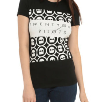 Twenty One Pilots Mask Girls T-Shirt