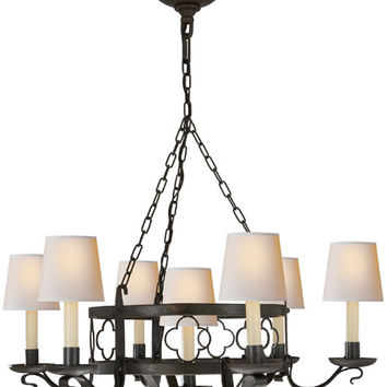 Visual Comfort Suzanne Kasler Margarite 7 Light Chandelier in Aged Iron with Wax SK5102AI
