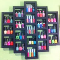 Any color honeycomb nail polish rack