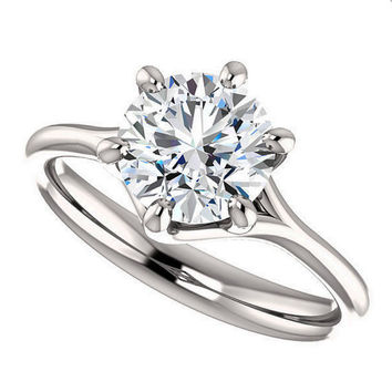 avery ring - NEO moissanite engagement ring, 1.5 carats in 14k white gold