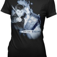 Doctor Who David Tennant Time Vortex Tenth Juniors Tee