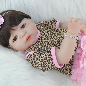Silicone Baby - Reborn Full Body Doll - 55cm Realistic Baby Girl