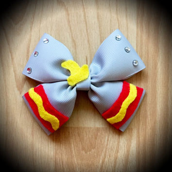 Dumbo Disney Character Inspired Grey Hair Bow