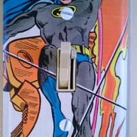 Comic Book Batman superhero comic light switch cover