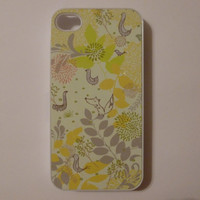 iPhone 4 Case  Yellow Spring Pattern by CreateItYourWay on Etsy