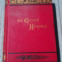 Vintage 1891 illustrated copy The Greek Heroes by Charles Kingsley, Greek Fairy Tales for Children, mythology