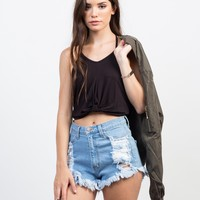 Knotted Halter Crop Top