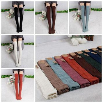 MDIG4F Hayoha 2017 Spring and Autumn Over Knee leggings  Fashion Women's High Cotton Sexy 7Color Leggings High Quality