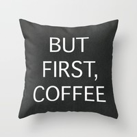 Coffee Throw Pillow by EARTh