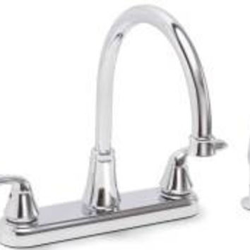 Kitchen Faucet 2 Handle Chrome With Sprayer