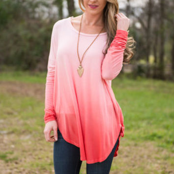 You Glow It Tunic, Coral
