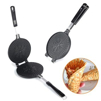 Eggs Puffs Baking Oven Grill Mold Roll Pan Aluminum Alloy Flower Furnace Burning Plate Barbecue DIY Cooking Eggs Tools Bakeware