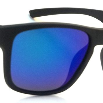 Retro Polarized Sunglasses Classic Palmer Aviator Black Frame