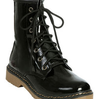 Patent Leather Combat Boot | Shop Shoes at Wet Seal