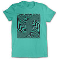 Tame Impala  Wave Square Girls Jr Soft tee Mint Rockabilia