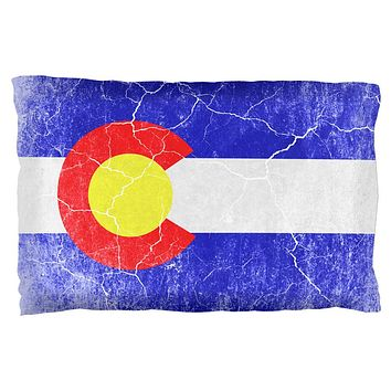 Colorado Vintage Distressed State Flag Pillow Case