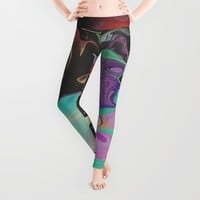 Abstract Distractions Leggings by Galen Valle