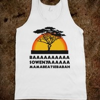 LION KING (TANK) - FUN, FUNNY, & POPULAR - SKREENED T-SHIRTS, ORGANIC SHIRTS, HOODIES, KIDS TEES, BABY ONE-PIECES AND TOTE BAGS