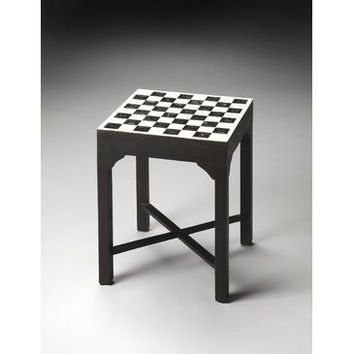 Butler Bone Inlay Bishop Bunching Chess Table In Bone Inlay In Heritage 3204070