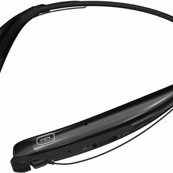LG - TONE Pro Wireless In-Ear Behind-the-Neck Headphones - Black
