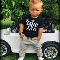 2 pieces Set 9M-24M baby boys set summer clothes Toddler Kids Baby Boy T-shirt Tops+Long Pants Trousers children Clothing