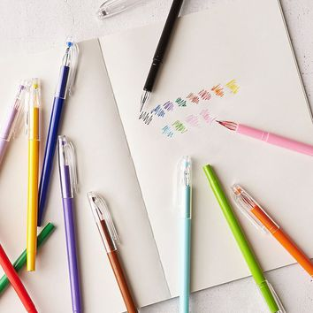 Petite Point Gel Pen Set   Urban Outfitters