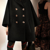 Wool Poncho Coat