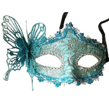 Sexy Women Lace Mask Venetian Masquerade Ball Party  Carnival Face, Eye (green)
