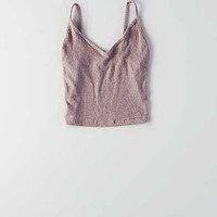 Don't Ask Why V-Neck Crop Tank, Iced Mocha