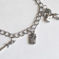 Percy Jackson inspired charm bracelet for demigods and fans of Percy Annabeth Grover