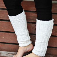 Nice And Cozy Leg Warmers: Ivory | Hope's