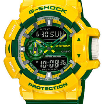 Casio G-Shock Limited Rotary Anti-Magnetic Watch - Yellow & Green - World Time